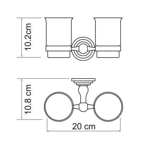 Подстаканник двойной Wasser Kraft Ammer K-7028D