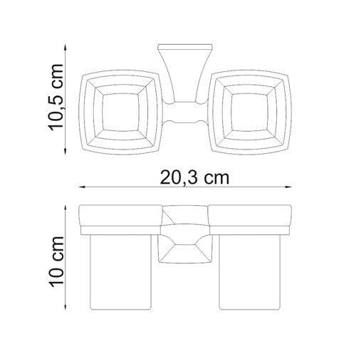 Подстаканник двойной Wasser Kraft Wern K-2528D