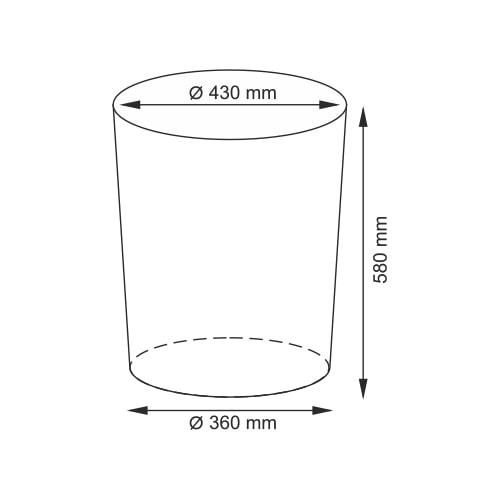 Корзина для белья Wasser Kraft Main WB-410-L