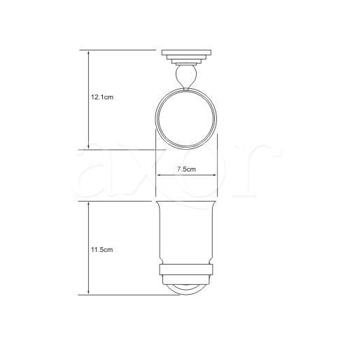 Держатель стакана Wasser KRAFT Ammer K 7028 одинарный