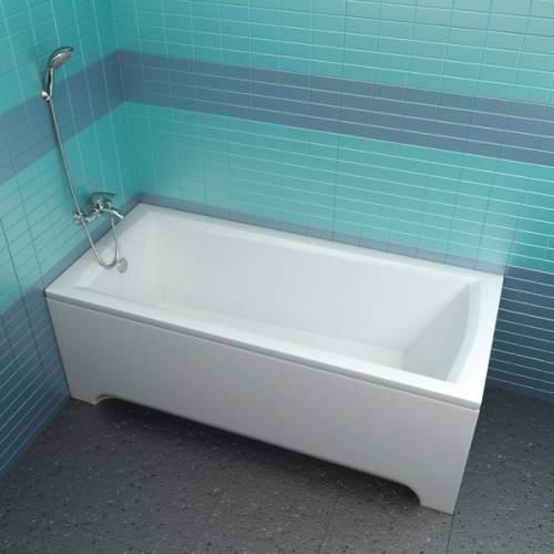 Ванна DOMINO PLUS 170х75 с опорной конструкцией + фронтальная панель + слив-перелив