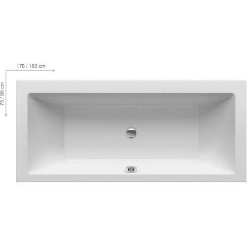 Ванна FORMY 01 180х80 с опорной конструкцией + фронтальная панель + слив-перелив