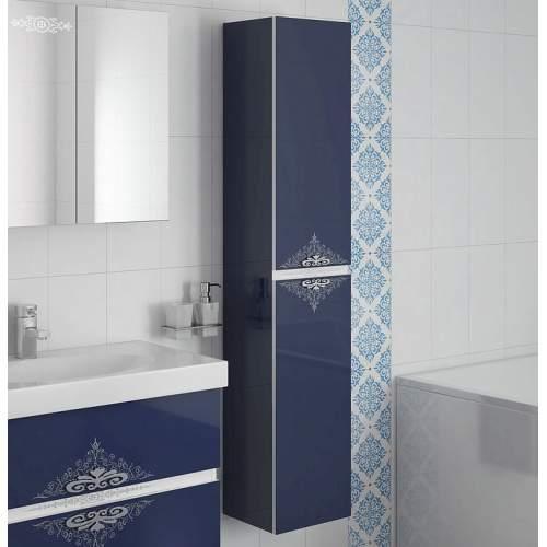 Шкаф-колонна Асс 300.21 (синий глянец)