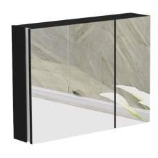 Зеркальный шкаф Ax 800.11 New, черный глянец