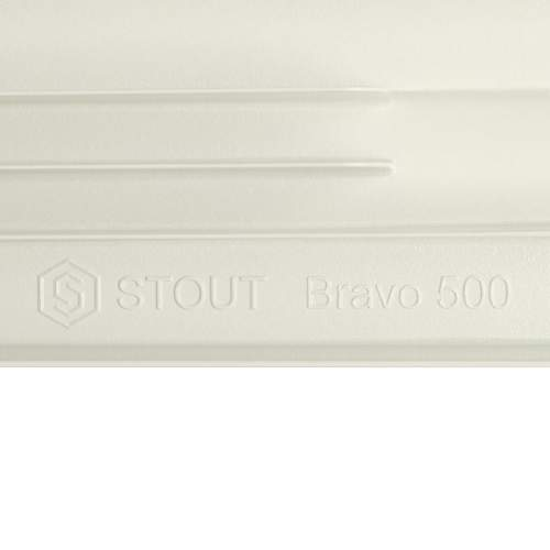 SRA-0110-050010 STOUT Bravo 500 Радиатор алюминевый бок. подкл. 10 секций