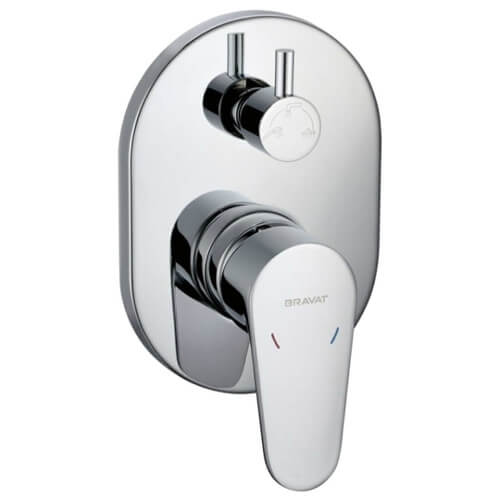 Однорычажный смеситель для ванны с душем Bravat Eler FB848238CP-3