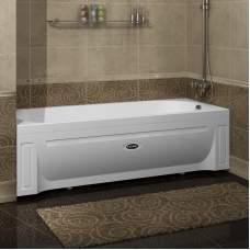 Акриловая ванна Аврора 170х75 фронтальная панель, каркас + слив-перелив