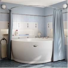 Карниз для шторы на ванну МЕЛАНИ (хром)