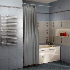 Карниз прямой для шторы на прямоуг.ванну 2м (хром)
