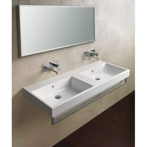 Зеркало 40*120 с матовой алюминиевой рамкой без светильника