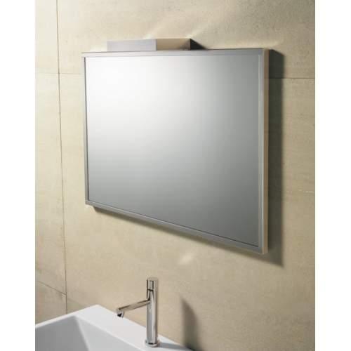 Зеркало 50*50 с матовой алюминиевой рамкой без светильника