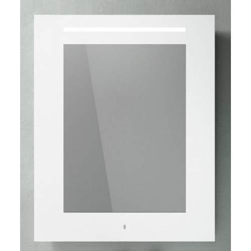 Зеркало 80*100 в белой рамке, встроенным светильником