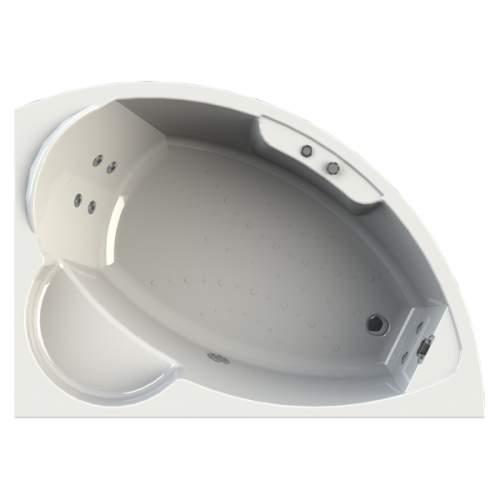 """Акриловая угловая ванна """"Алари (168х120)"""" с гидромассажем"""