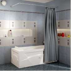 Карниз Г-образный (1600x750 мм) для шторки на прямоугольную ванну