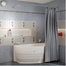 Карниз Chrome для шторки на ванну