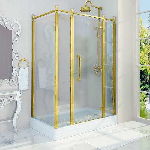 Душевое ограждение «140 Лоренцо Великолепный» Gold