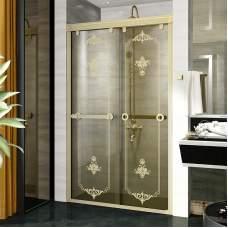 Душевая перегородка в нишу с двойной раздвижной дверью 120 Bronze