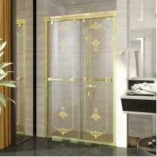 Душевая перегородка в нишу с двойной раздвижной дверью 120 Gold