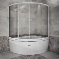 Шторка на ванну «Альбена» (белый профиль)