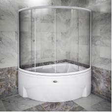 Шторка на ванну «Астория» (белый профиль)