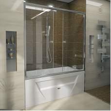 Шторка на ванну «Ларедо 3» luxe (хромированный профиль)