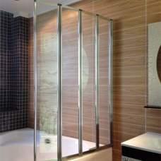 Стеклянная складная шторка на ванну (4 секции)