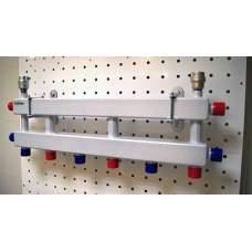 Модульный коллектор с термоиз.кож. МК-60-4D (4 контура)