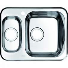 Мойка нержав. сталь, полированная, 1 1/2, чаша справа 605х480, Strit S, IDDIS, STR60PZi77