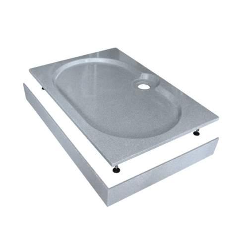 Душевой поддон 120x80x16 см Q-серый