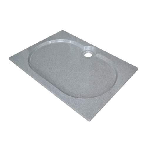 Душевой поддон 120x80x2 см Q-серый