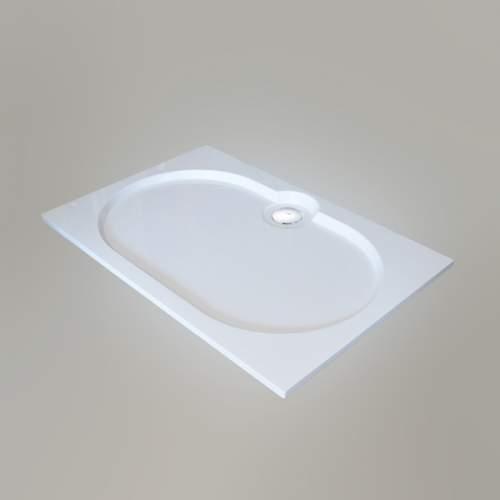 Душевой поддон 120x80x2 см Q-белый