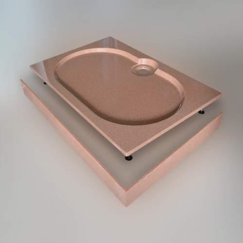 Душевой поддон 120x80x16 см Q-терракот