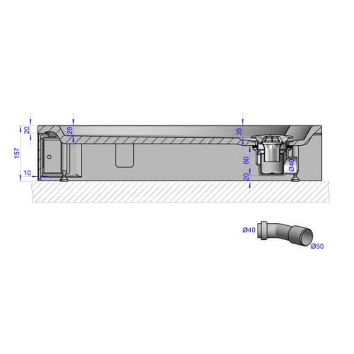 Душевой поддон 120x80x16 см Q-черный
