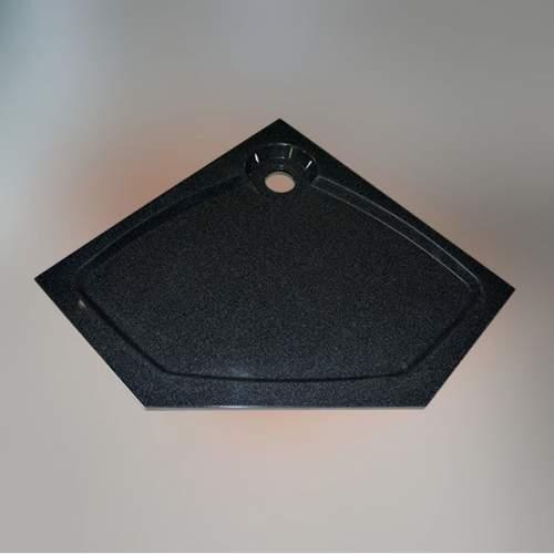 Душевой поддон 100x100x16 см P-черный